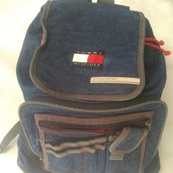 5a8db0df7be Vintage Tommy Hilfiger Denim Small Backpack. M_5bc23322c2e9fea436424277